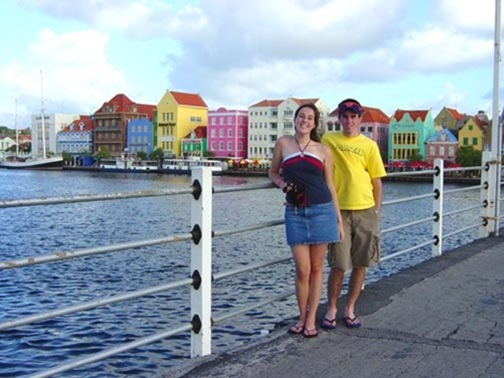 K and Kevin in Wilemstad Curacao
