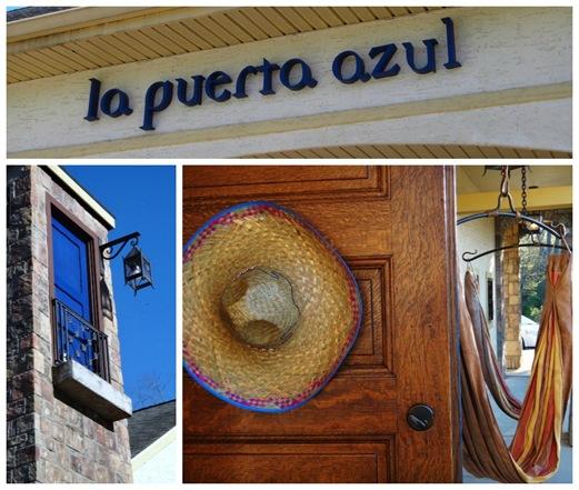 La Puerta Azul- entrance