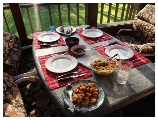 What's for dinner- back porch dining