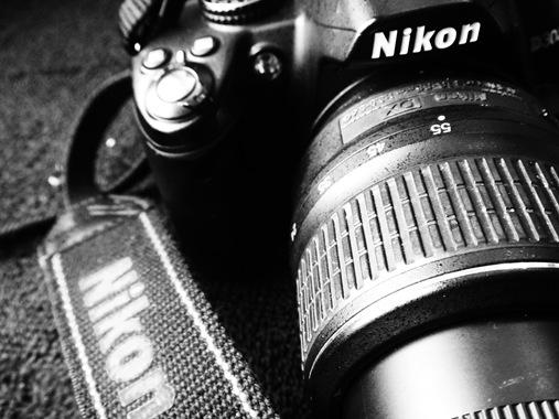 Nikon camera close up