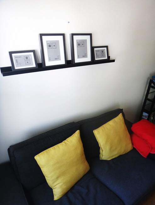 Photo ledge and frames from ikea