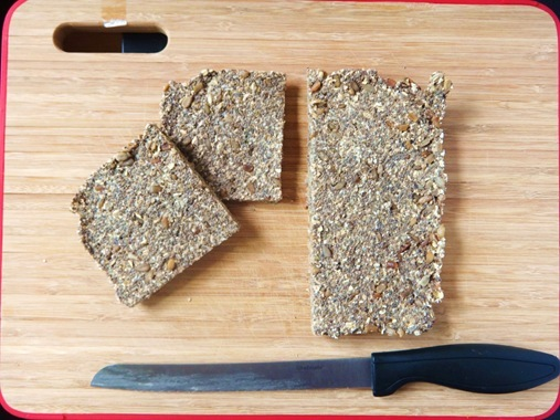 Sliced super power chia bread