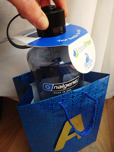 Nalgene water bottle in happy birthday gift bag