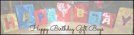 Customizeable Happy Birthday Gift Bags from The Adventures of Z and K
