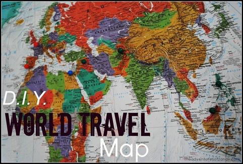 DIY world travel map