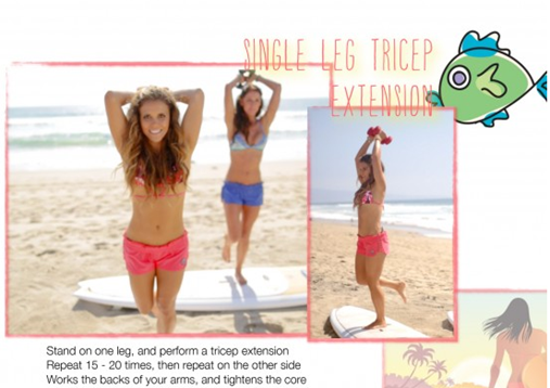 Tone It Up Surfer's Paradise single leg tricep extension