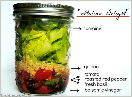 Italian Delight Salad in a Jar 2