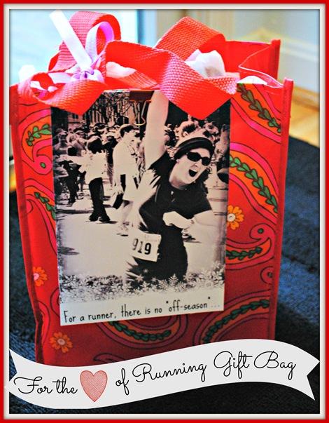 running gift bag