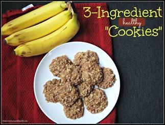 Three Ingredient Healthy Cookies