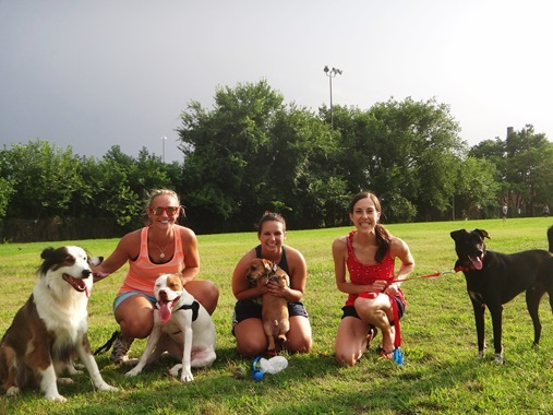 Keri Jenna and Kerry w/ dogs