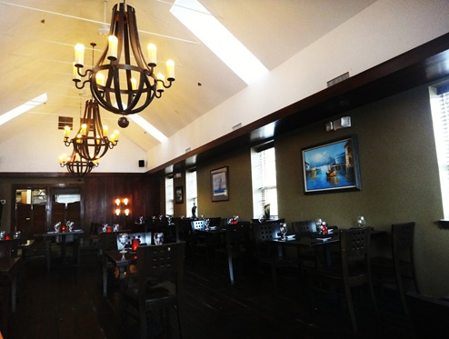 Upstairs dining room at The Point in Fells