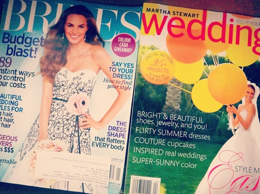bride and martha stewart weddings magazines