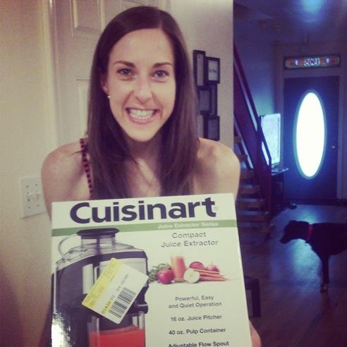 K with Cuisinaart juicer