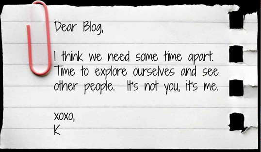 dear blog note from K