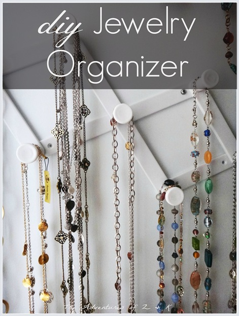 DIY Dollar Store Jewelry Organizer from The Adventures of Z and K