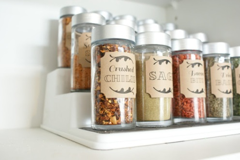 Dollar Store Spice Cupboard from The Social Home