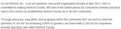 No Kill Harford mission