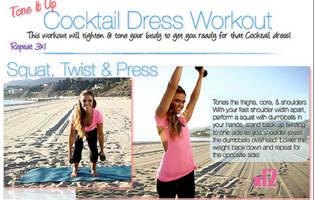 tone it up cocktail dress workout