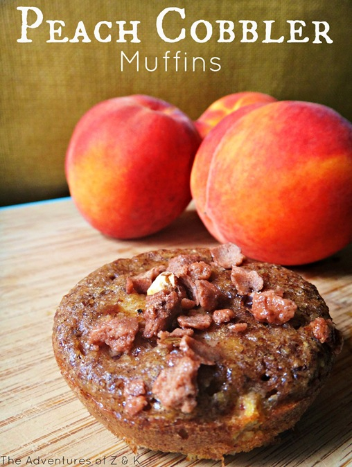 Peach Cobbler Muffins from The Adventures of Z and K