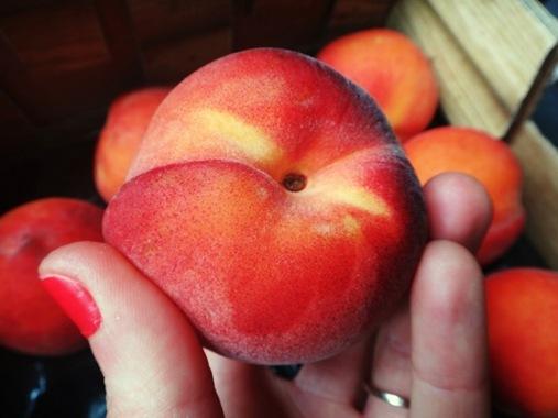 Peach Cobler Muffins- Trader Joe's Peaches