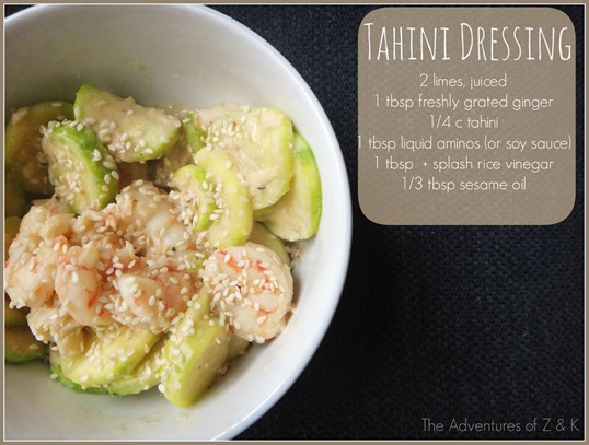 Tahini Dressing Recipe for Shrimp