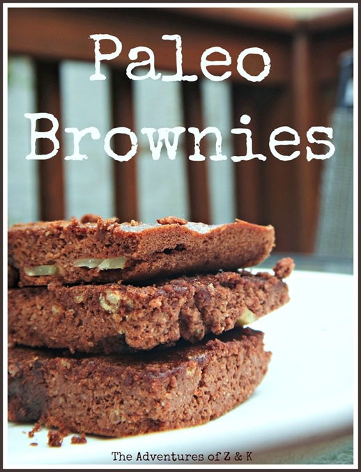 Paleo Brownies with nuts from The Adventures of Z and K