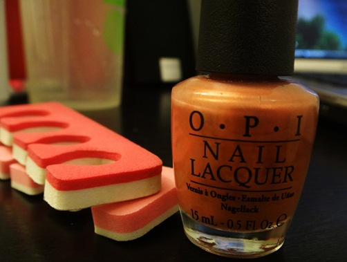 OPI nail polish and toe separators