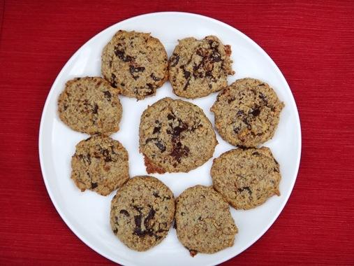 Paleo Chocolate Chip Cookies on plate