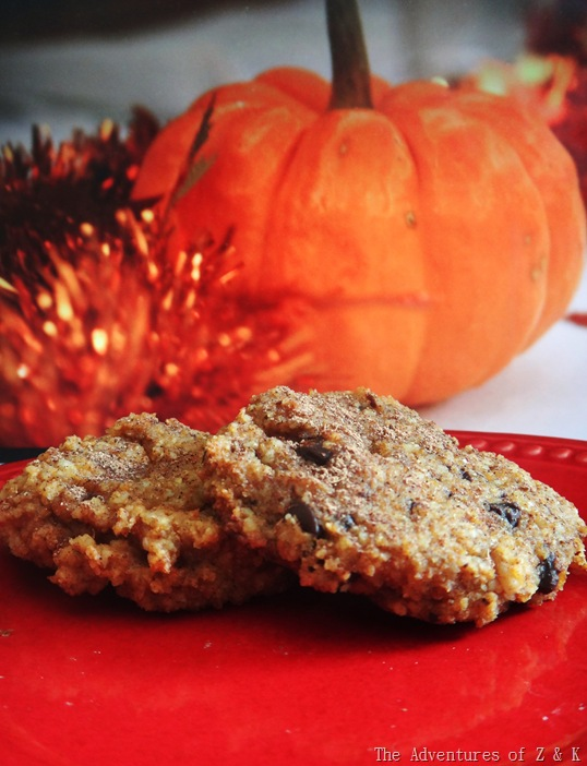 Pumpkin Chocolate Chip Cookies | The Adventures of Z & K