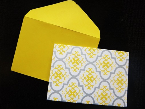 Handwritten yellow and grey birthday card from Target