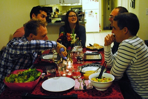 K and Z dinner party with friends