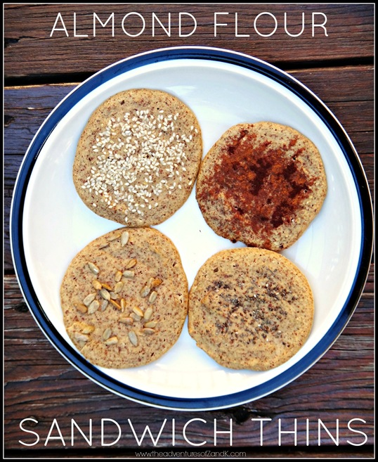 Almond Flour Sandwich Thins- The Adventures of Z and K