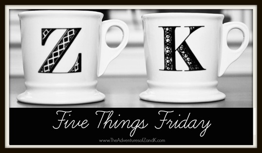 Five Things Friday Logo From the Adventures of Z & K