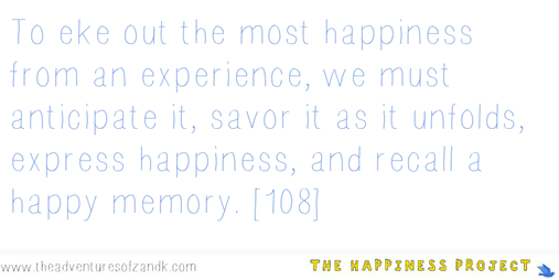 The Happiness Project Chapter 4 Quote