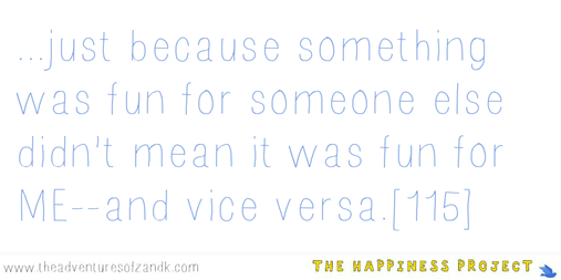 The Happiness Project: Chapter 5 quote
