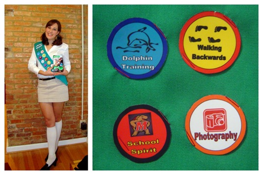 K as a girl scout