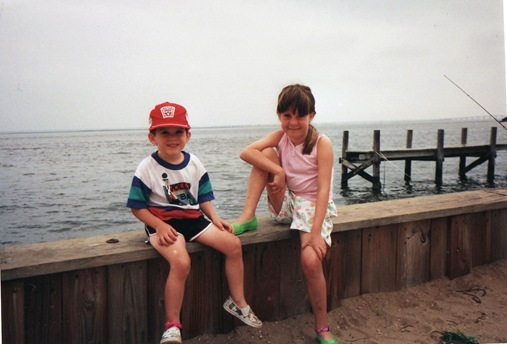 K and Kevin on pier in Long Beach Island New Jersey