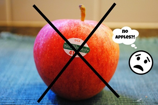 No apples on a low fodmap diet