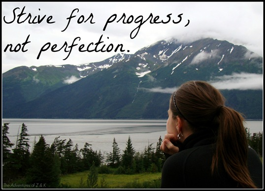 Strive for Progress, Not Perfect  The Adventures of Z and K