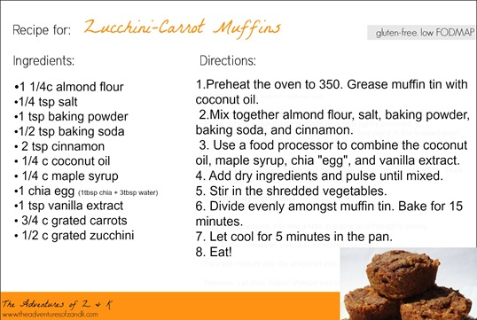 Zucchini Carrot Muffins The Adventures of Z & K