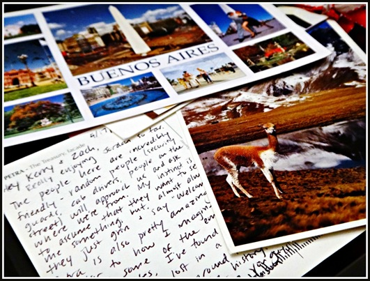 Post cards from buenos aires and peru