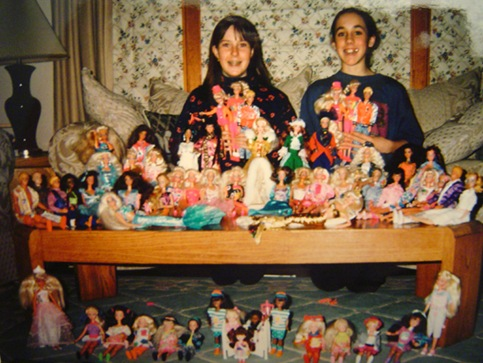 K and Jen and barbie collection
