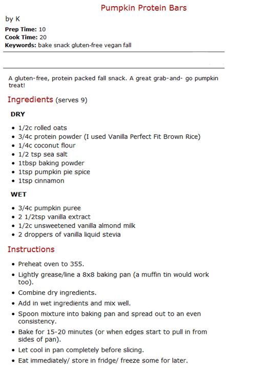 Pumpkin Pie Protein Bar Recipe |  The Adventures of Z & K