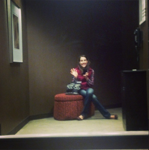 K in dressing room at Macy's