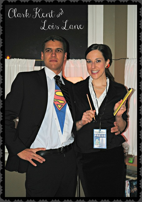K and Z as Clark Kent and Lois Lane Halloween Costume