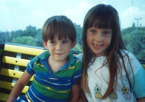 K and younger brother Kevin on tram and Bronx Zoo