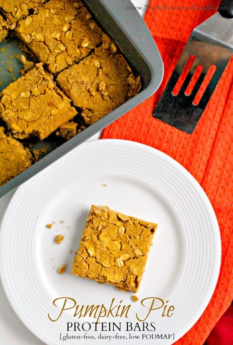 Pumpkin Pie Protein Bars  The Adventures of Z & K