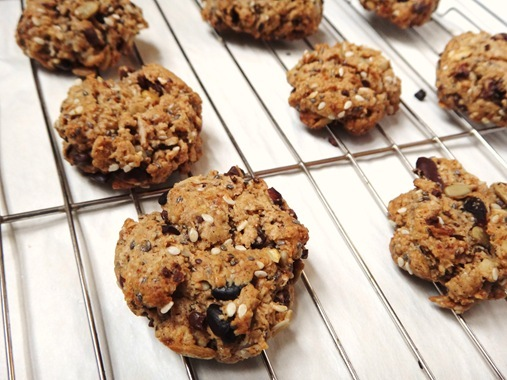 Trail Mix Cookies on cooling rack