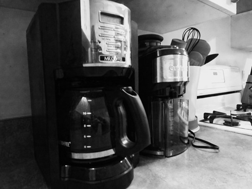 Mr. Coffee coffee pot in kitchen