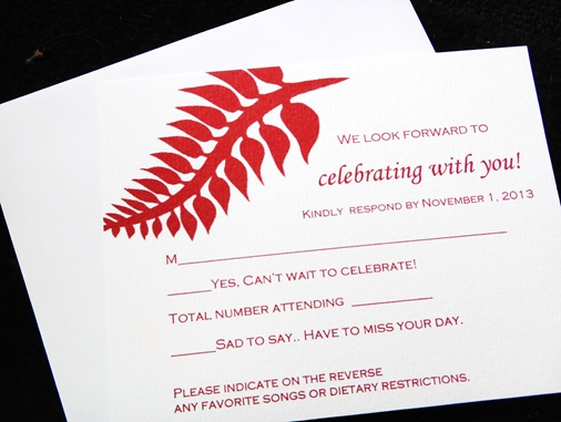 Response Cards | The Wedding of Z & K